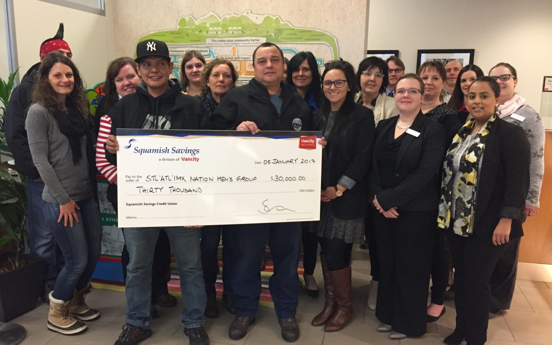Men's Group receives signficant grant from Squamish Savings